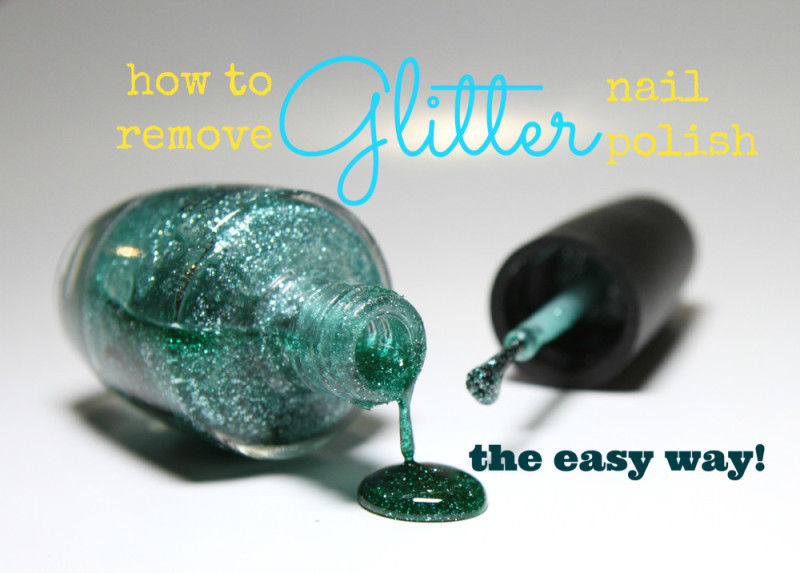 how to remove glitter nail polish no foil